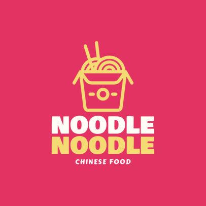 Food Logo Maker with a Minimalistic Noodle Box Clipart 1029g-55-el
