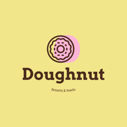 Minimal Logo Maker with a Doughnut Clipart 1259h-55-el