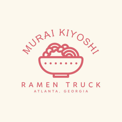 Logo Maker for a Ramen Truck with a Bowl Icon