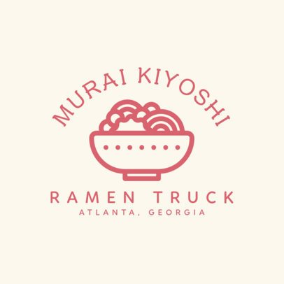 Logo Maker for a Ramen Truck with a Bowl Icon 1213i-55-el