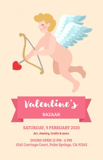 Online Flyer Maker for a Valentine's Bazaar 200h-1962