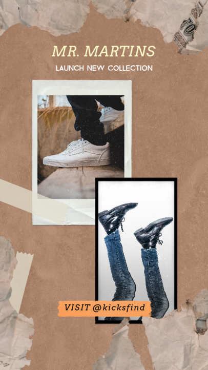 Trendy Instagram Story Template for a New Footwear Collection 1950c