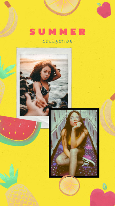 Instagram Story Maker for a Summer Collection with Bright Colors 1950f