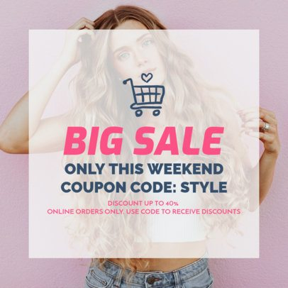 Coupon Design Template for Online Discounts 1022f 72-el