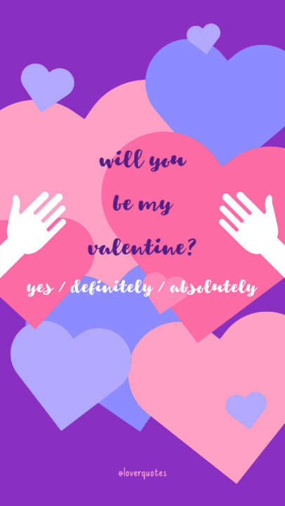 Valentine's Day Instagram Story Maker Featuring Hearts Clipart 609i 1955
