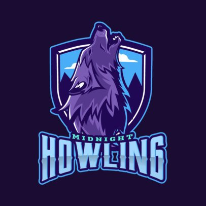 Gaming Logo Maker Featuring a Howling Wolf Graphic 2680e