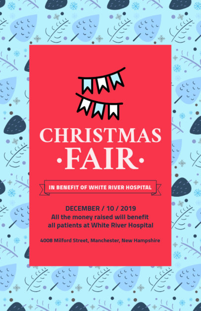 Online Flyer Generator for a Christmas Fundraising Event 109c 130-el