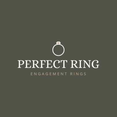 Jewelry Store Logo Template with an Engagement Ring Clipart 1169g-118-el