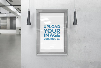 Mockup Featuring a Poster in an Acrylic Wall Frame 910-el