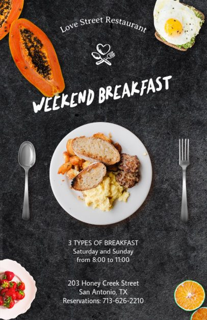 Weekend Breakfast Flyer Design Template for Restaurants 127f 36-el