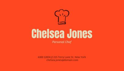 Catering Services Business Card Design Template for Personal Chefs 122i 36-el