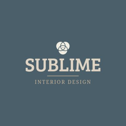 Minimalistic Logo Maker for an Interior Designer 1330j-119-el