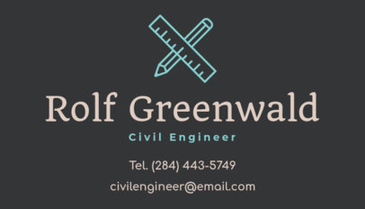Simple Business Card Design Template for a Civil Engineer 346f-119-el