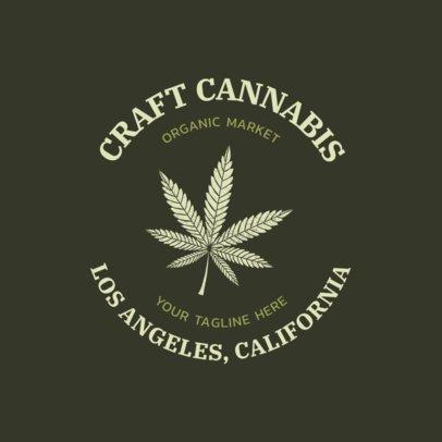 Cannabis Logo Maker for an Organic Market 2647a