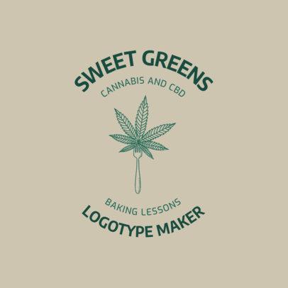 Logo Generator for Sweet Cannabis Desserts 2647b