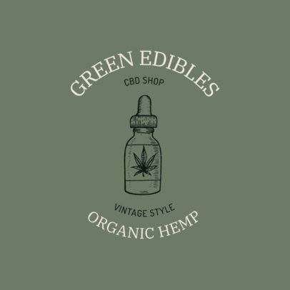 Logo Template Featuring a Cannabis Extract Dropper 2647c