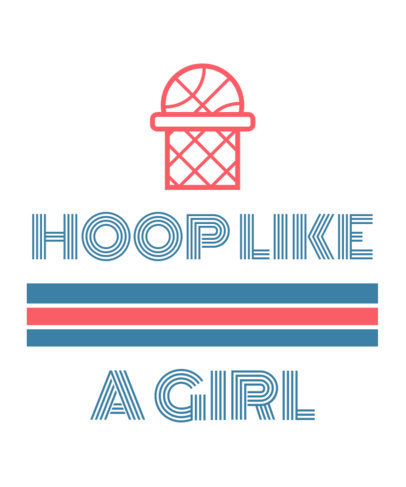 T-Shirt Design Maker for a Female Basketball Team 1191k 105-el