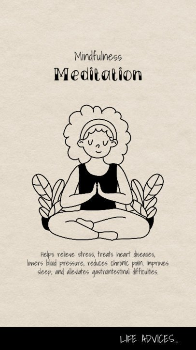 Yoga-Themed Instagram Story Generator with a Woman in a Lotus Pose 1974b