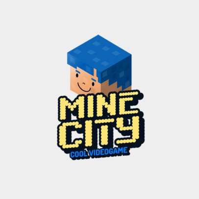 Minecraft-Inspired Gaming Logo Maker Featuring 8bit Characters 2667i