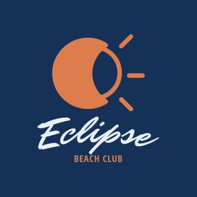 Simple Logo Maker for a Beach Club 1760k 123-el