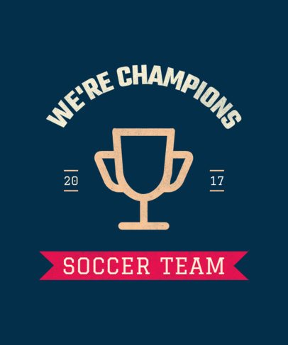 Sports T-Shirt Design Template for a Soccer Team 104a-el