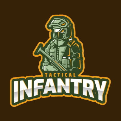 Gaming Logo Maker with a Tactical Soldier Graphic Inspired by Rainbow Six Siege 2653c