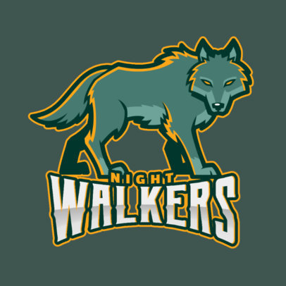 Logo Generator for a Sports Team with a Wolf Mascot 2680i