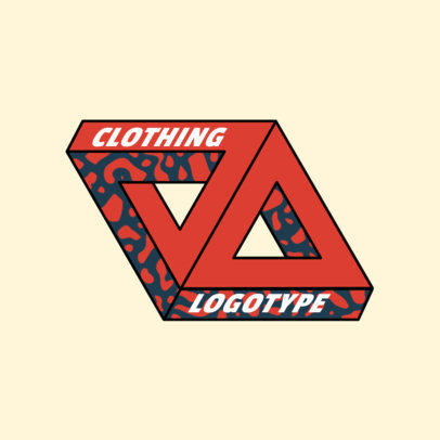 Urban Clothing Brand Logo Maker with a 3D Triangular Graphic 2650d