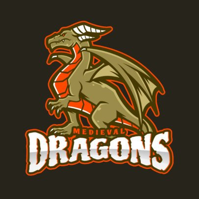 Gaming Logo Creator with a Medieval Dragon Clipart 2689e