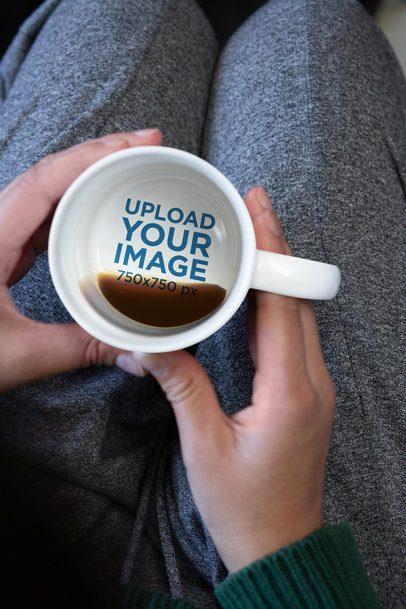 15 oz Hidden Message Mug Mockup Featuring a Young Woman 30129