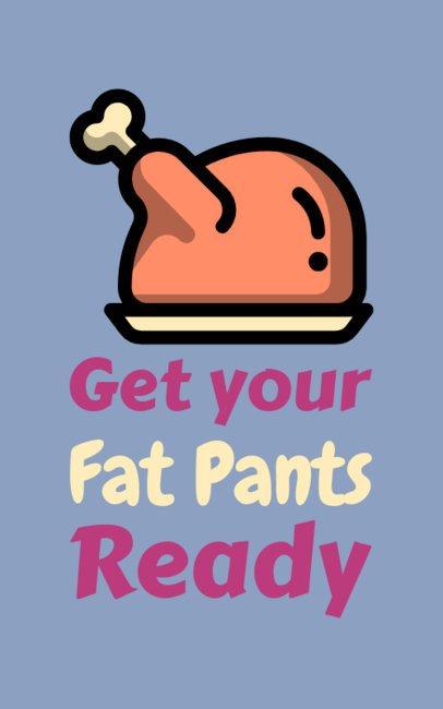 Funny T-Shirt Design Maker Featuring Thanksgiving Turkey Clipart 625h 134-el