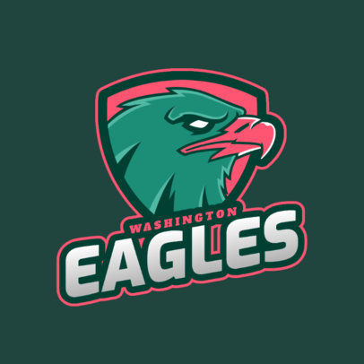 Sports Team Logo Maker Featuring a Fierce Eagle Graphic 2693d