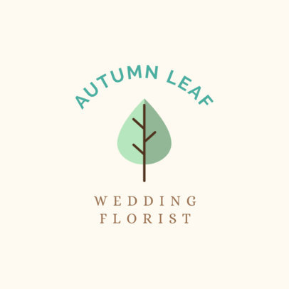 Minimalist Logo Maker for a Wedding Florist 1243h 131-el