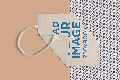Mockup of a Cotton Tote Bag Semi-Folded 1059-el