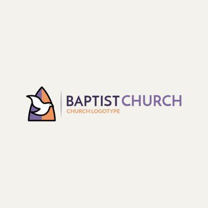 Minimalist Church Logo Creator with Holy Spirit Clipart 1771d