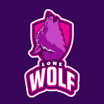 Logo Maker for a Sports Team Featuring a Howling Wolf Graphic 2695m 2684