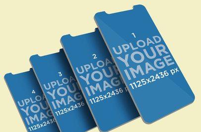 iOS Mockup Featuring Multiple Screens Renders 1068-el