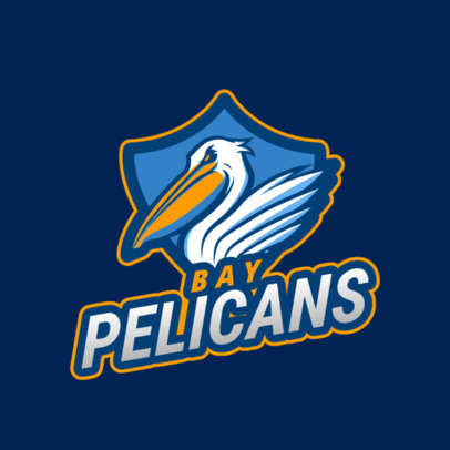 Sports Logo Generator Featuring an Angry Pelican Clipart 2693k