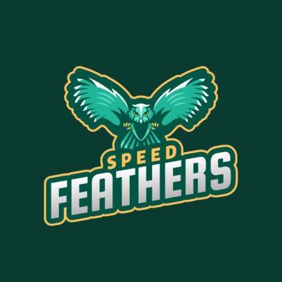 Aggressive Birds Logo Generator for Sports Teams 2693m
