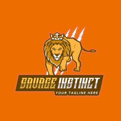 Gaming Logo Generator with a Savage Lion Graphic 2704c