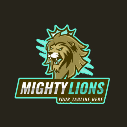 Logo Generator for a Gaming Crew with a Ferocious Lion