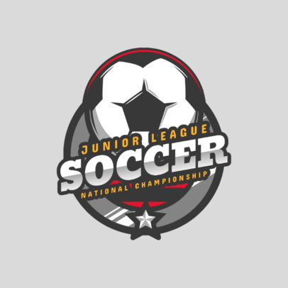 Sports Logo Maker for a Junior Soccer League 2703a