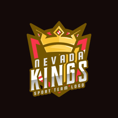 Logo Template for a Sports Team Featuring a Crown Graphic 2703c
