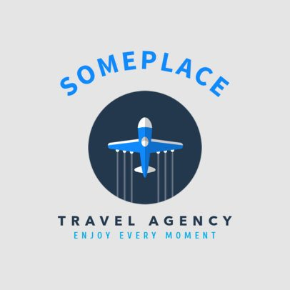 Minimal Travel Agency Logo Maker with an Airplane Graphic 1281h 75-el