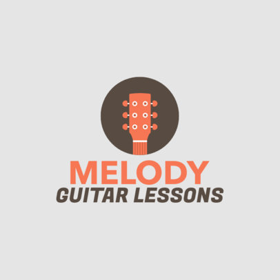 Simple Guitar Academy Logo Generator