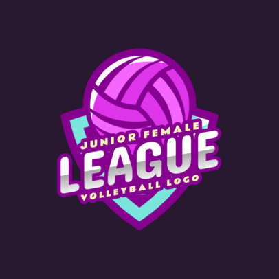 Sports Logo Maker for a Junior Female Volleyball League 2703f