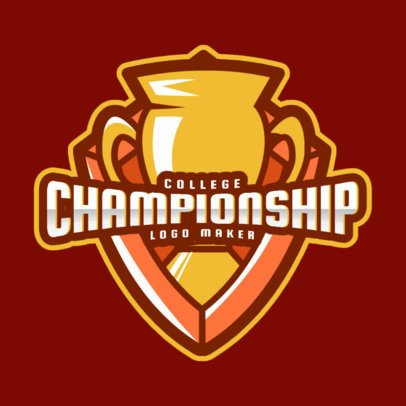 Logo Maker for a College Championship Featuring a Trophy Clipart 2702a
