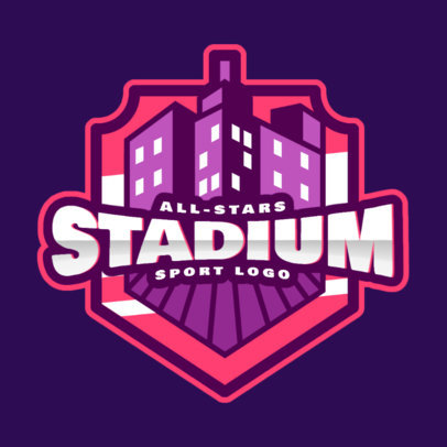 Sports Logo Maker Featuring Illustrated Buildings 2702f