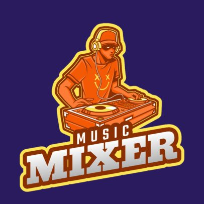 Online DJ Logo Creator for a Music Mixer 2661k-2694