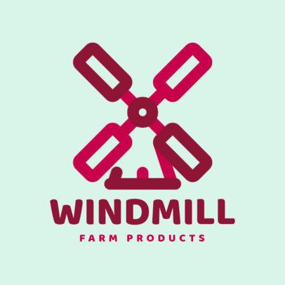 Farm Products Online Logo Maker Featuring a Windmill Clipart 1126f 74-el